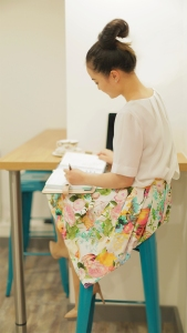 Rinniboo Skirt outfit photo half OOTD outfit styling fashion floral print skirt how to